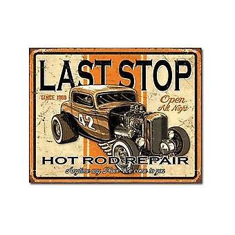 Última parada Hot Rod reparación muestra del Metal