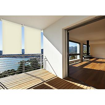 Sun protection outside rollo balcony rollo B: 100 x l: 230 cm beige balcony view protection cream 1 piece