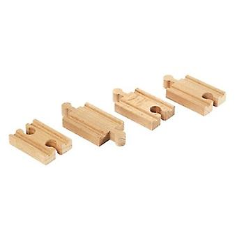 BRIO Mini straight tracks 33333 Extra Track for Wooden Railway