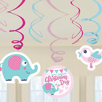 Amscan On Your Christening Day Swirls Decorations