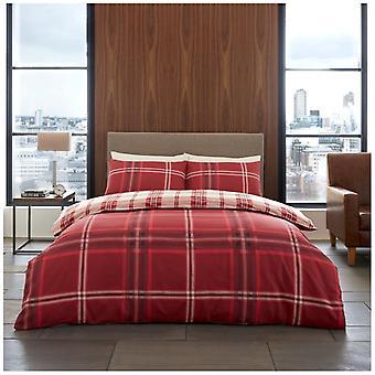 Bardsley kontrollera duntäcke Quilt Cover Polycotton tryckt sängkläder Set örngott