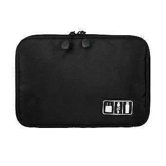 Tasche zur Aufbewahrung von Schnüren, elektronikschwarz