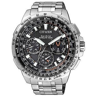 Citizen mens watch eco-drive satellit våg GPS kronograf CC9020-54E