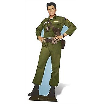 Elvis armeijan päivää Lifesize pahvi automaattikatkaisin / seisoja