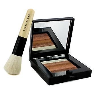 Bobbi Brown Bronze Shimmer Brick Set: Bronze Shimmer Brick Compact + Mini Face Blender Brush (limited Edition) - 2pcs