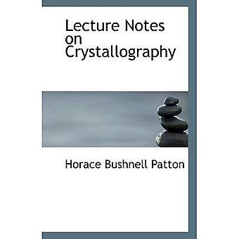 Notes de cours sur la cristallographie