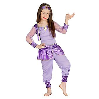 Girls Lilac Arabian Dancer Fancy Dress Costume