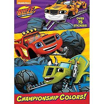 Mästerskapet färger! (Bläs och monstermaskiner) (Jumbo målarbok)
