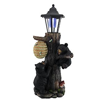 Bearly There Honey Hungry Climbing Cubs Solar Lantern Statue