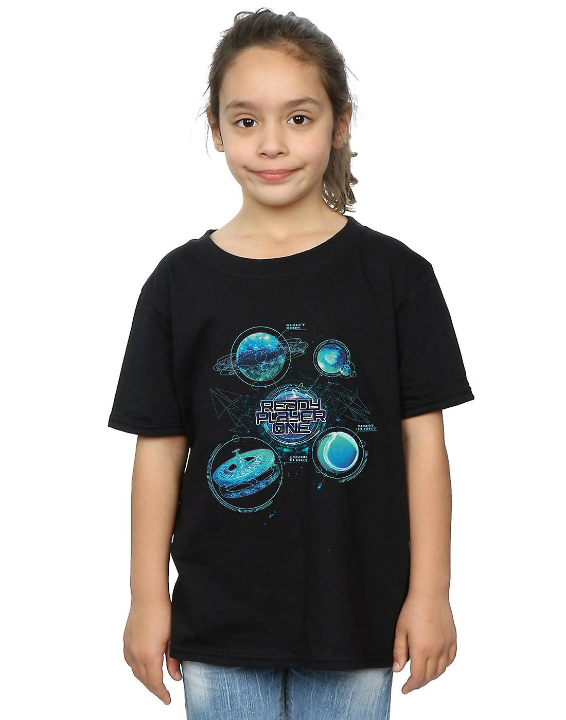 Ready Player One Girls Universe Map T-Shirt