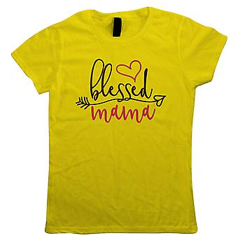 Blessed Mama Heart Arrow, Womens T Shirt - Mothers Day Gift Her
