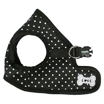Puppia Black Dotty Harness B (Dogs , Collars, Leads and Harnesses , Harnesses)