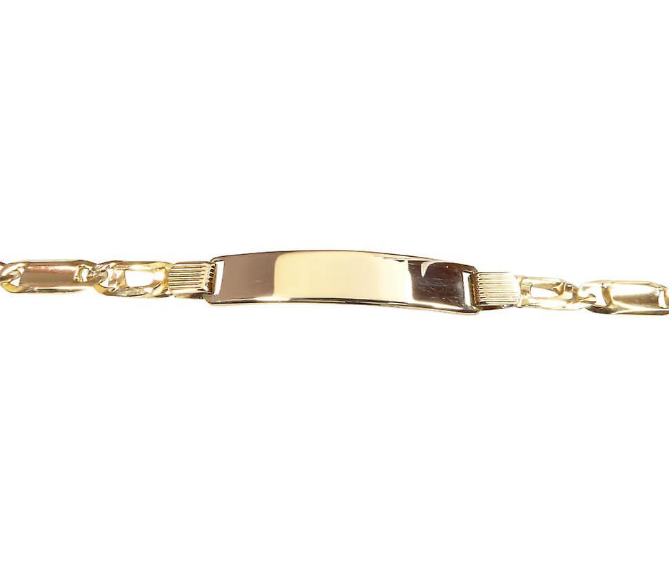Gouden naamplaat armband