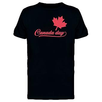 Canada Day Red Maple Leaf Tee Men's -Image by Shutterstock