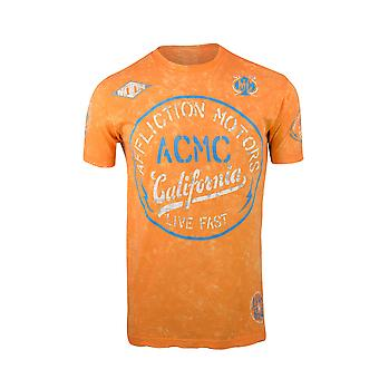 Affliction Mens AC Speed Shop T-Shirt - Orange