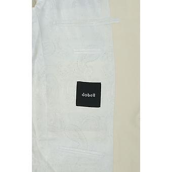 多贝尔男装白色Tuxedo晚餐夹克苗条适合峰拉佩尔