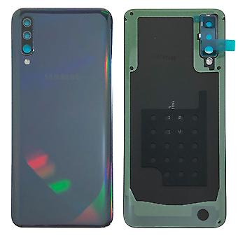 Samsung GH82-19229A paristo kannen kansi Galaxy A50 A505F + liima pad musta uusi