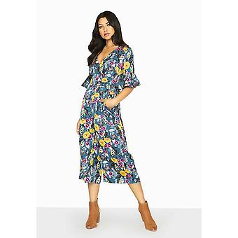 Girls On Film Womens/Ladies Bittersweet Wrap Jumpsuit