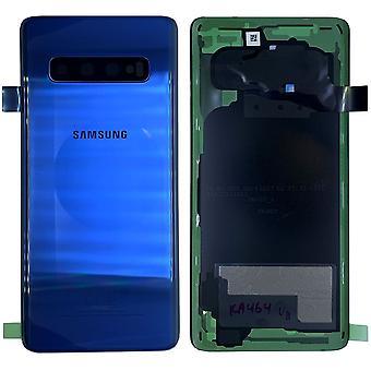 Samsung GH82-18406C paristo kannen kansi Galaxy S10 Plus + clingpad musta Prisma sininen/sininen uusi