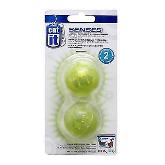 Catit Design Senses Motion Activated Illuminated Ball - 2 Pack