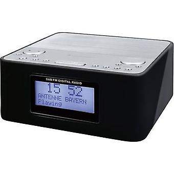 soundmaster UR170SW راديو المنبه المنبه DAB +، FM الأسود، الفضة