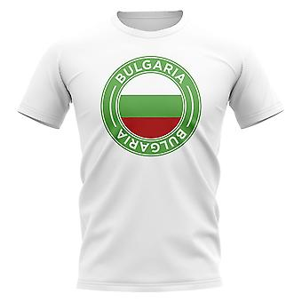 Bulgaria Football Badge T-Shirt (White)