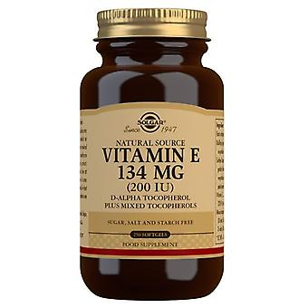 Vitamina Solgar E 134mg (200iu) Softgels misti 250 (3502)