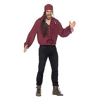 Pirate Shirt, Pirate Fancy Dress, XL