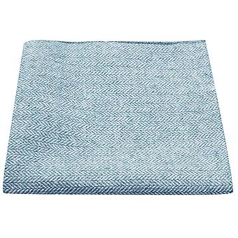 Sky Blue Herringbone Pocket Square, Handkerchief