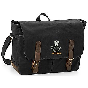 The Rifles Veteran - Licensed British Army Embroidered Waxed Canvas Messenger Bag