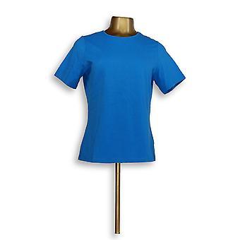 Mujeres's Top Stretch Camiseta Classic Marine Azul A10855