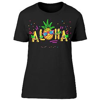 Aloha Inscription Pineapple Tee Women's -Image by Shutterstock