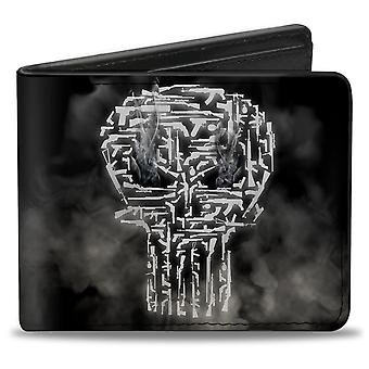Punisher Smokey Weapons Skull Logo Bi-fold Portefeuille