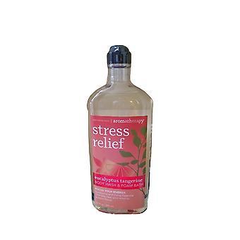 Bath & Body Works Aromatherapy Stress Relief Energy Eucalyptus Tangerine Foam Wash 10 fl oz / 295 ml (Pachet de 2)