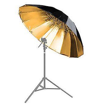 BRESSER BR-BG150 Paraguas reflectante negro/oro 150cm
