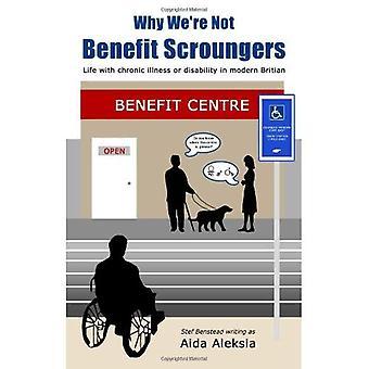 Dlaczego nie jesteśmy Scroungers korzyści: 'Życia z przewlekłą chorobę lub niepełnosprawność w nowoczesnych Brytanii'