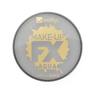 Make-Up Smiffys FX, grigio chiaro, viso Aqua e vernice di carrozzeria, 16ml, costume accessorio a base d'acqua