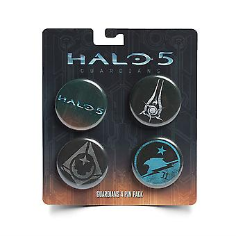 Pin Pack - Halo 5 - Guardians 4 Button Pack New Toys Gifts Licensed j6250