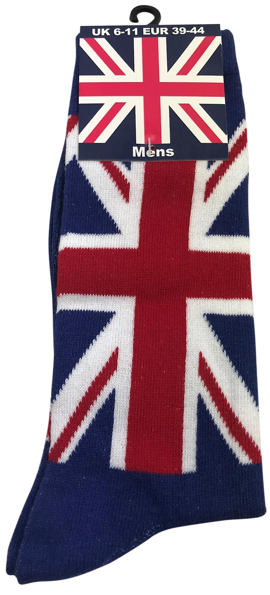 Ladies union jack sock navy size 4-7 (uk)