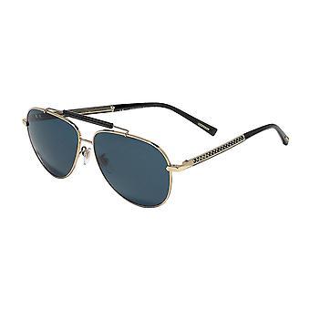 Chopard SCHC94 300P Brilhante Rosa Ouro / Polarised Óculos de Sol Azul