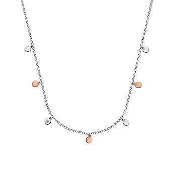 Hot Diamonds Sterling Silver Rose Gold Plate Monsoon Accents Necklace DN137