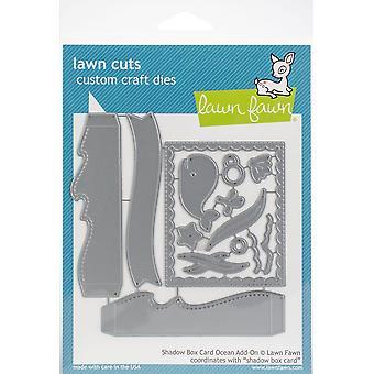 Lawn Cuts Custom Craft Die-Shadow Box Card Océan