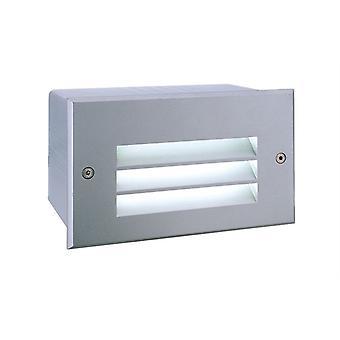 LED väggmonterad ljus sida V LED 6500K 171x105mm silver-matt IP65