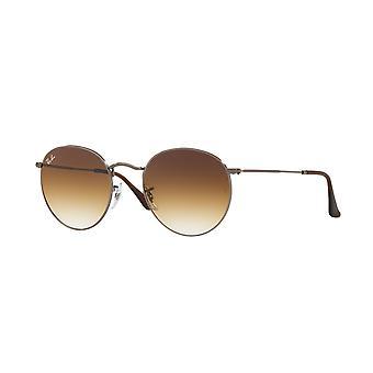 Ray-Ban Okrągłe Metalowe RB3447N 004/51 Gunmetal/Crystal Brown Gradient Okulary przeciwsłoneczne