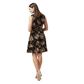Sugarhill Boutique naisten ' s Regina Palm Print A-line trooppinen mekko