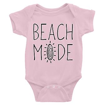 365 Printing Beach Mode Baby Bodysuit Gift Pink Funny Saying Baby Jumpsuit Gift