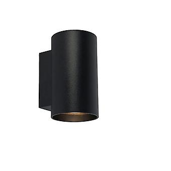 QAZQA Modern wall lamp around black - Sandy