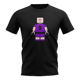 Gabriel Batistuta Fiorentina Camiseta de Futbolista ladrillo (negro)