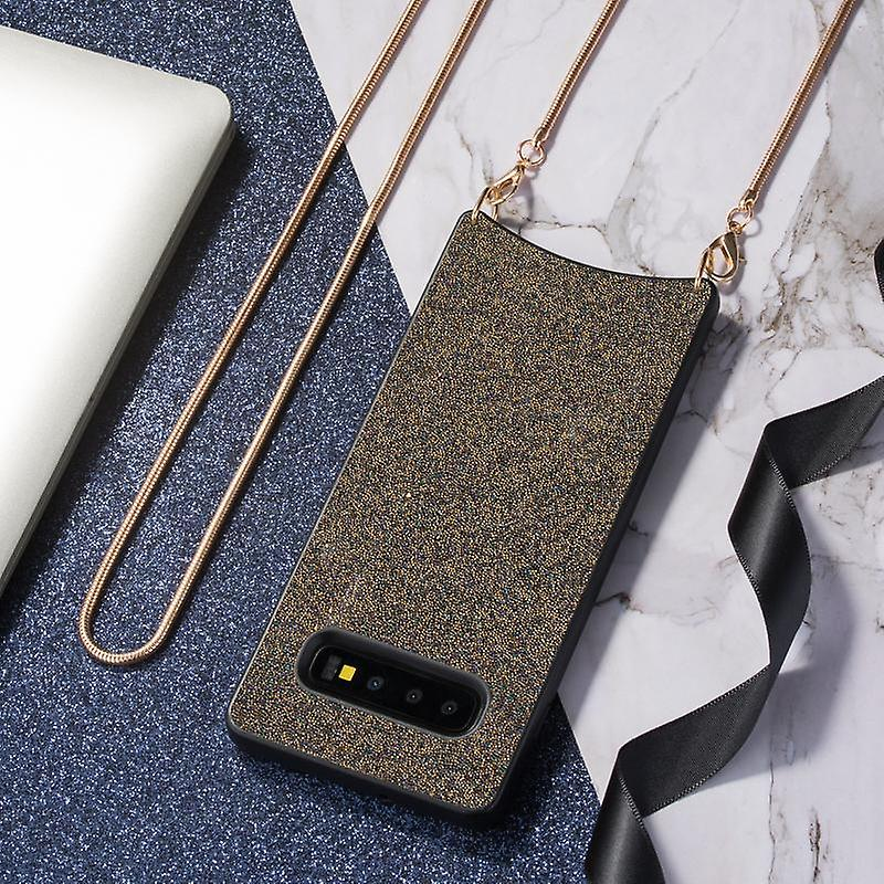 CaseGate phone chain for Samsung Galaxy S10 phone chain case cover - Necklace case with Golden Design