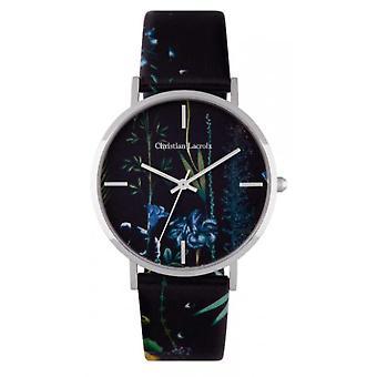 Christian Lacroix CLFS1809 Watch-kvinners Lær armbånd ut